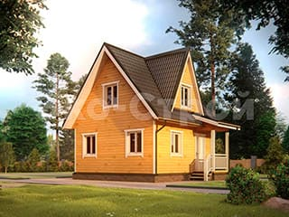 Дом из бруса ДУ 004