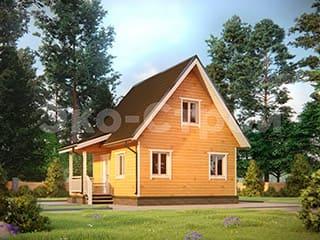 Дом из бруса ДУ 006