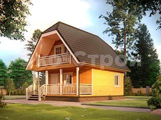 Дом из бруса ДУ 010