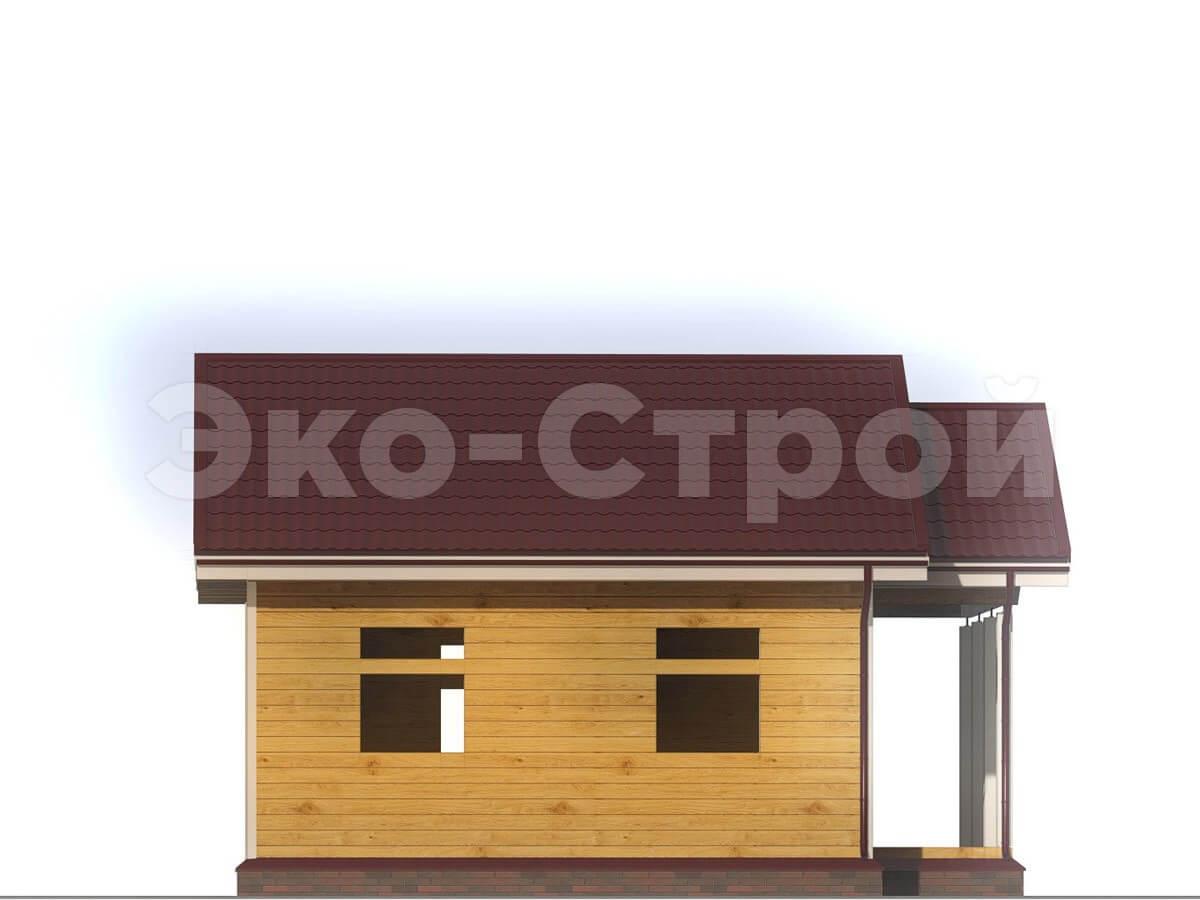 Проект дома из бруса ДБ001 вид слева