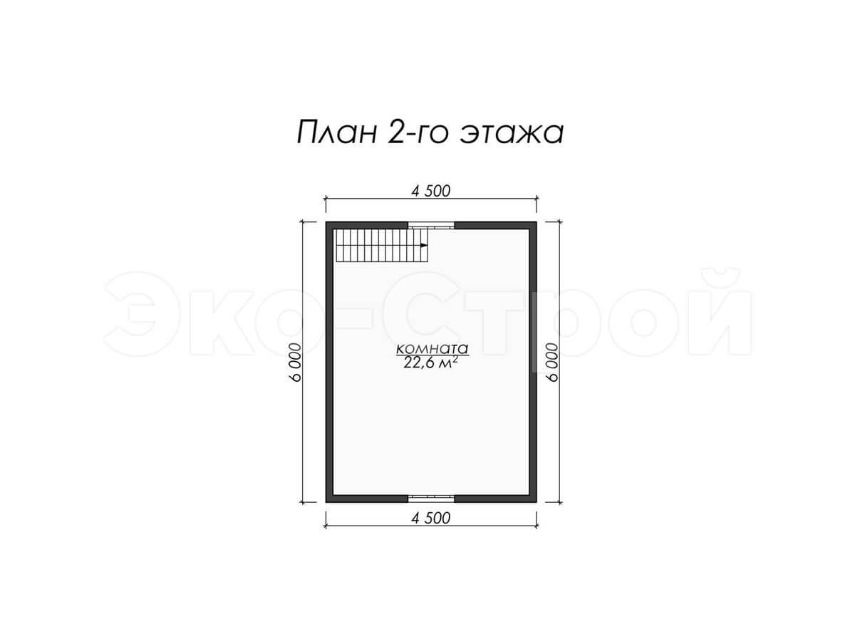 Дом из бруса ДУ 002 план 2 эт