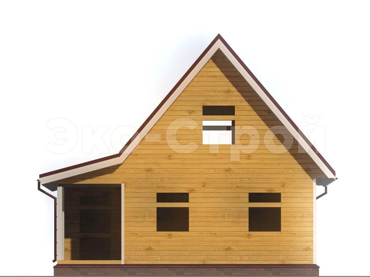 Дом из бруса ДУ 002 вид 4