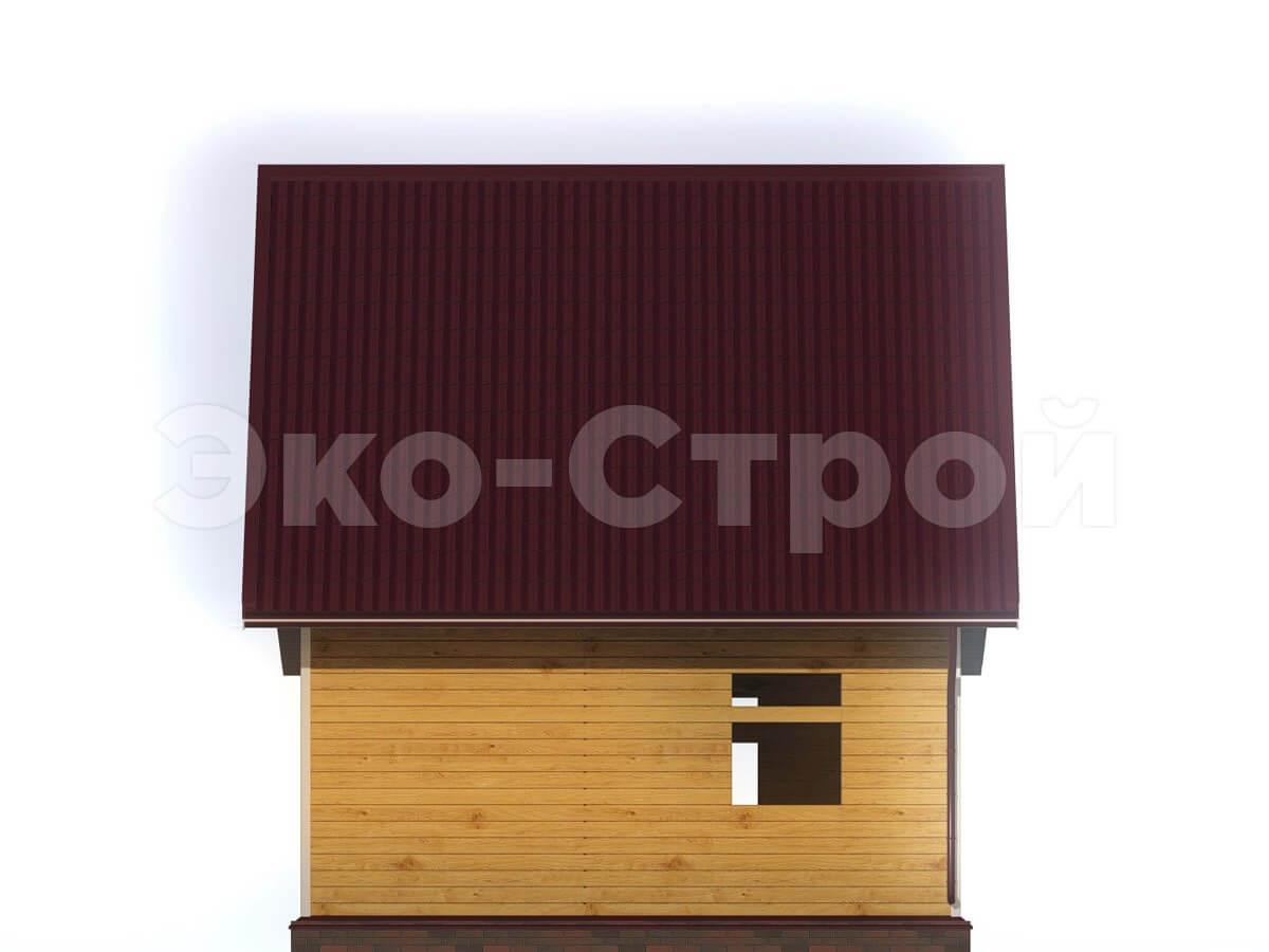 Дом из бруса ДУ 002 вид 3