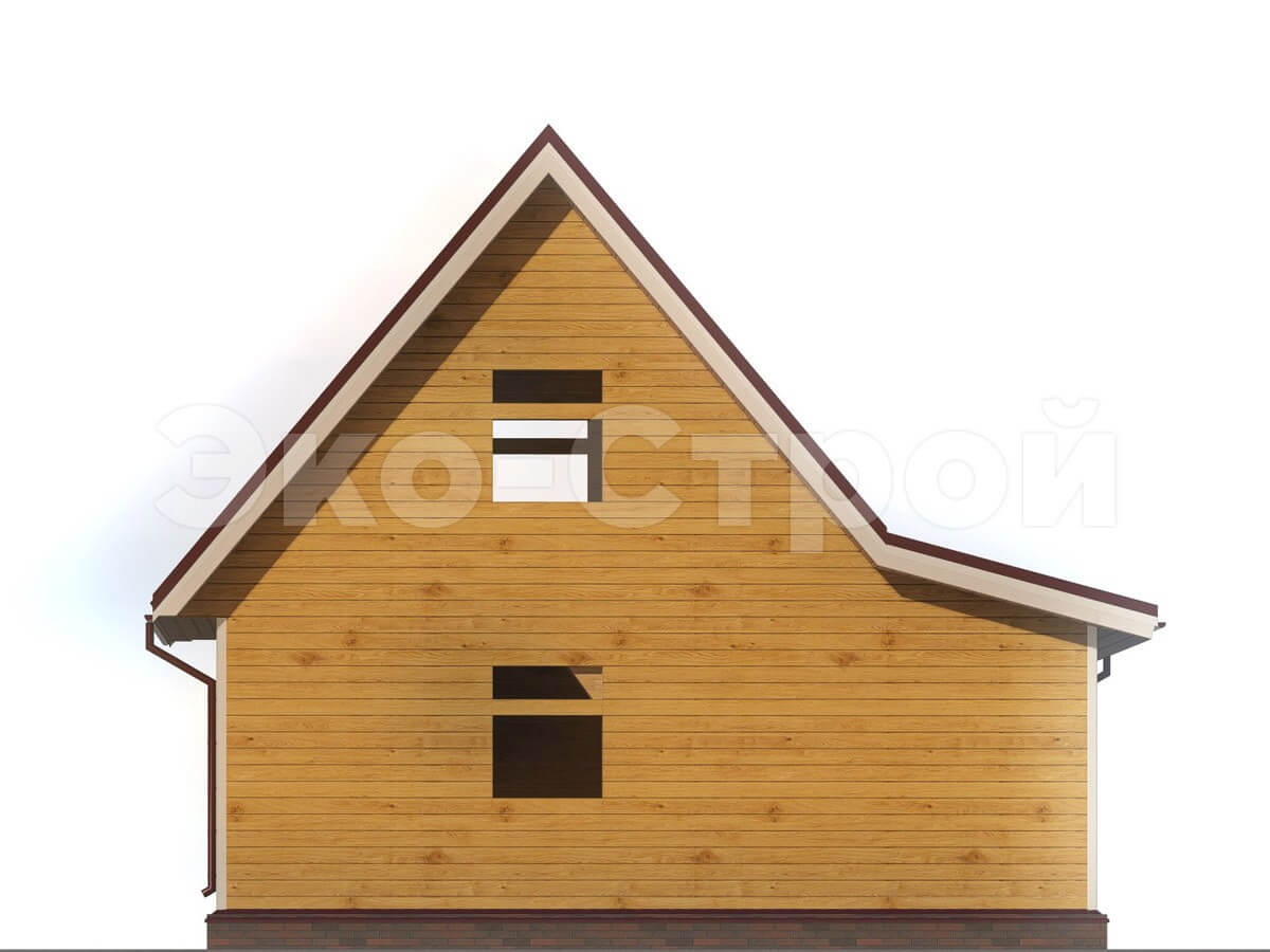 Дом из бруса ДУ 002 вид 2