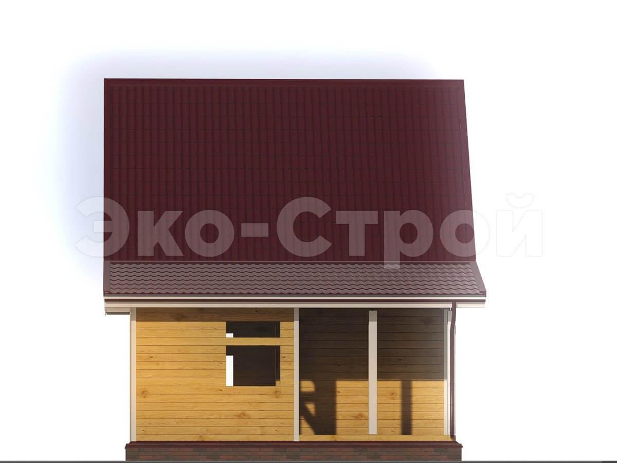 Дом из бруса ДУ 002 вид 1