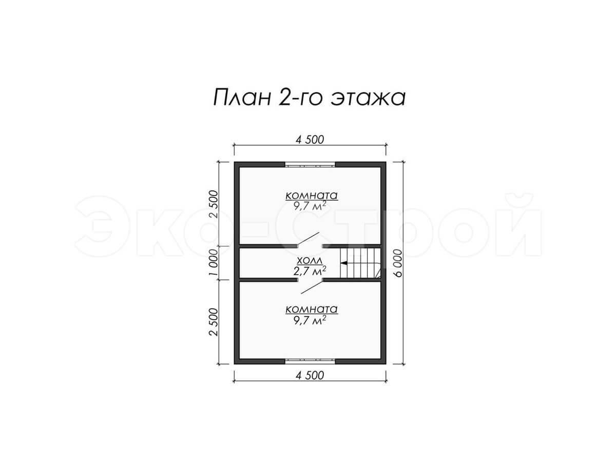 Дом из бруса ДУ 003 план 2 эт