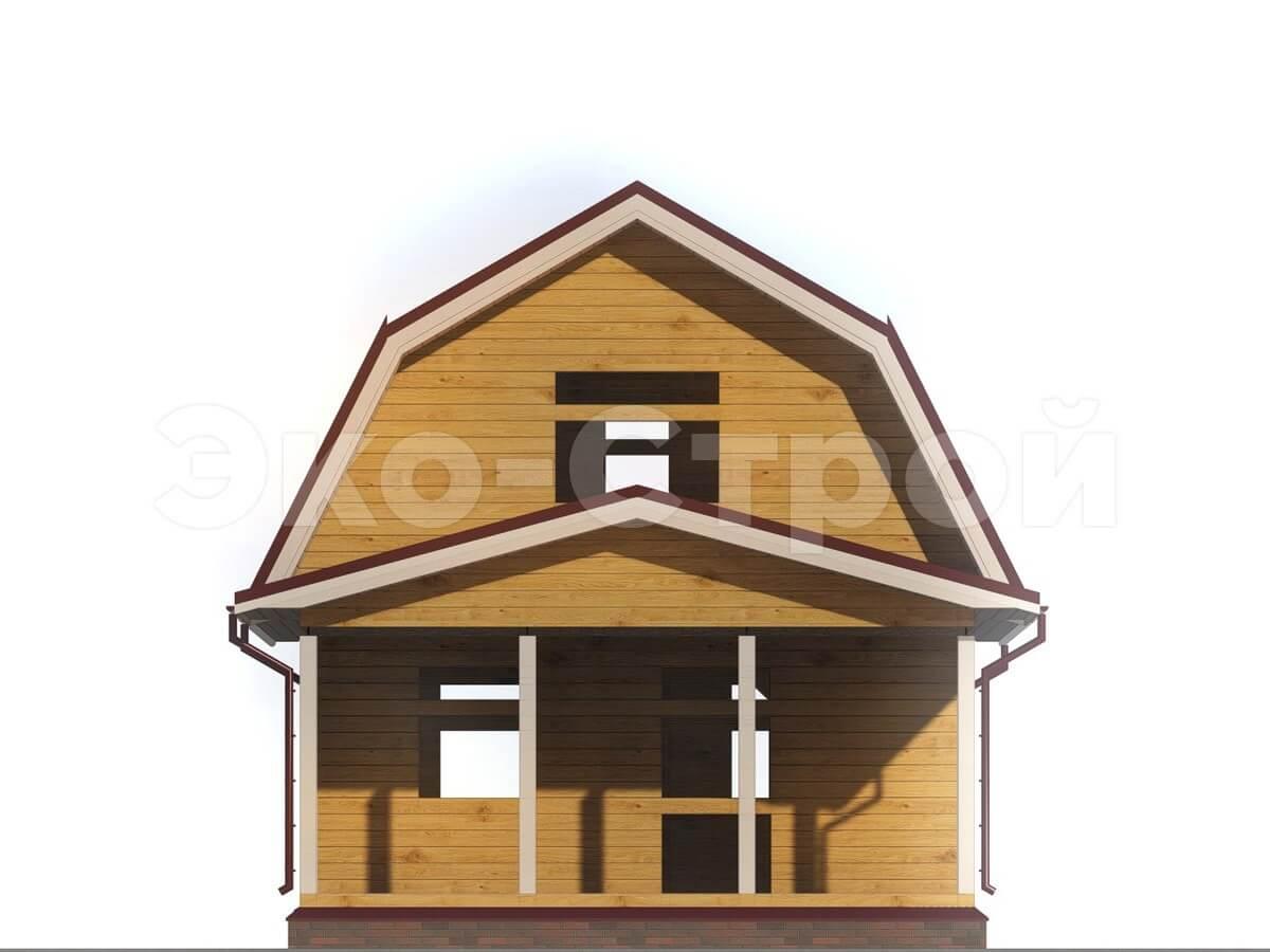Дом из бруса ДУ 003 вид 4