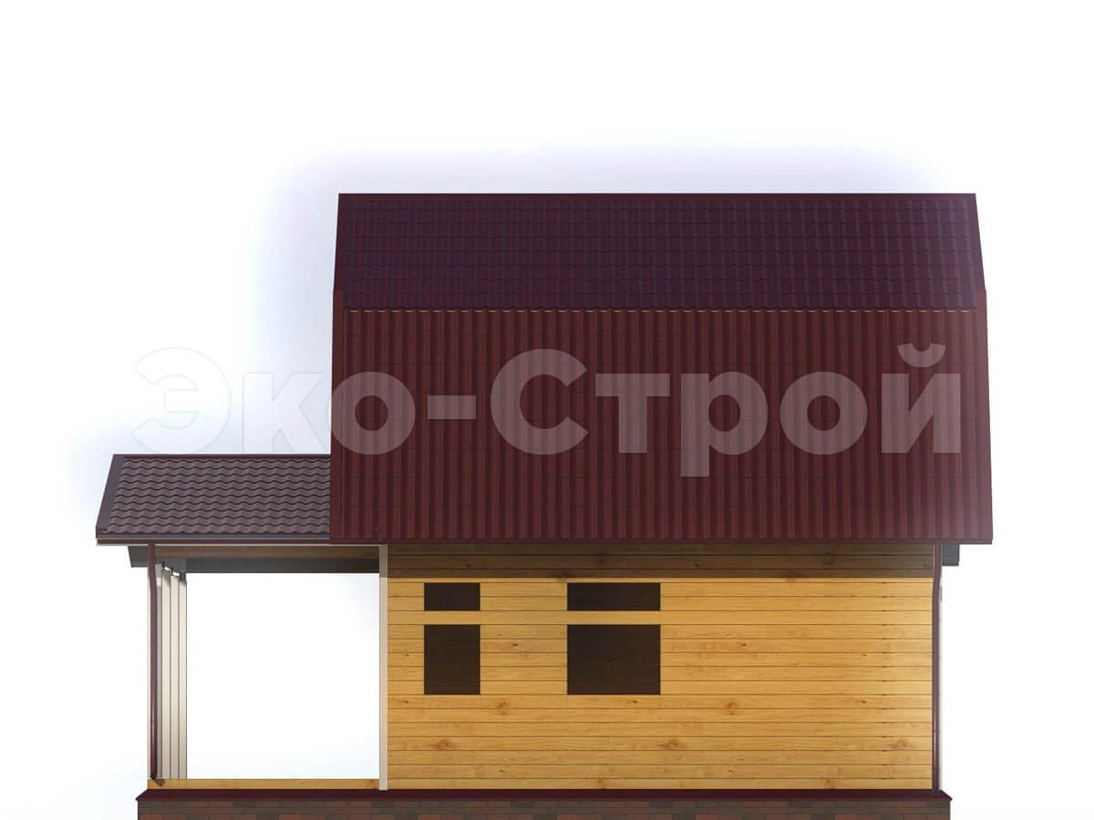Дом из бруса ДУ 003 вид 3