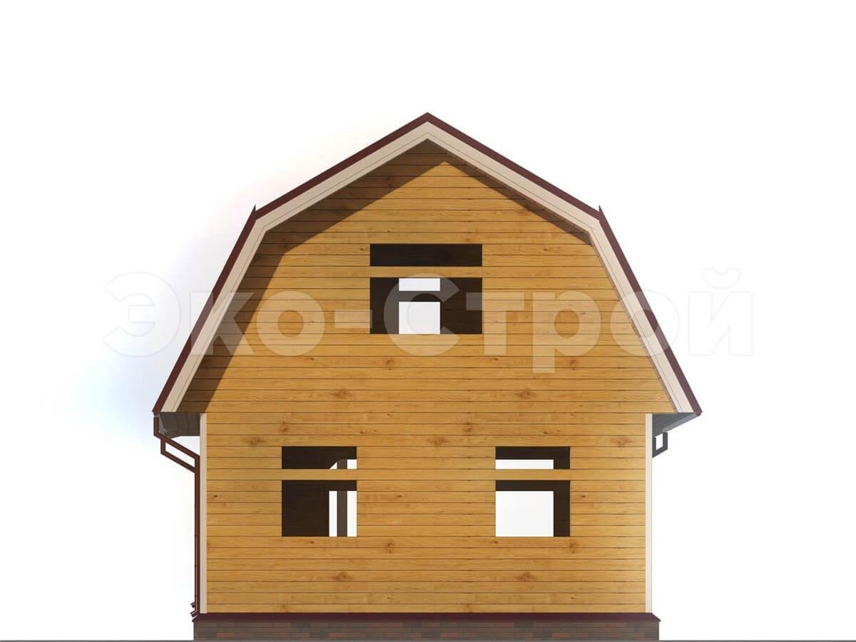 Дом из бруса ДУ 003 вид 2