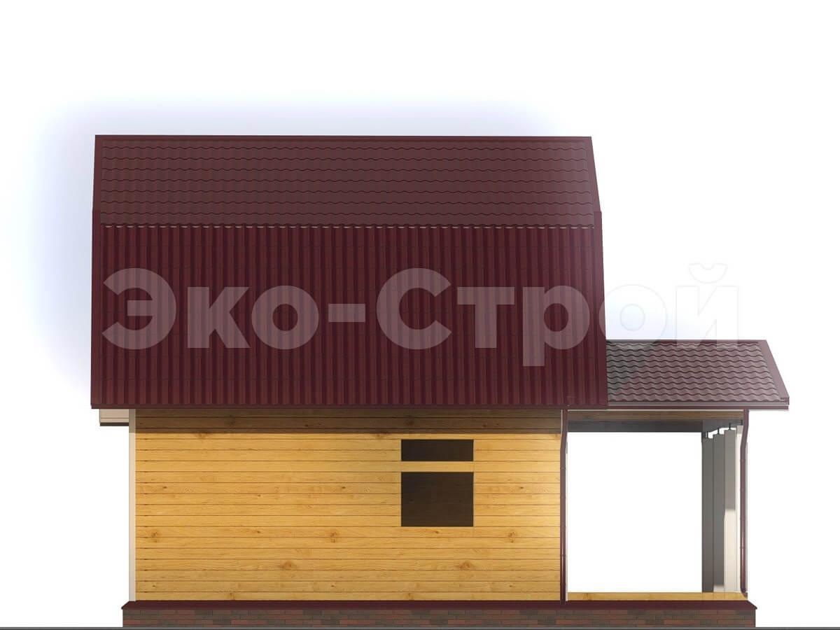 Дом из бруса ДУ 003 вид 1
