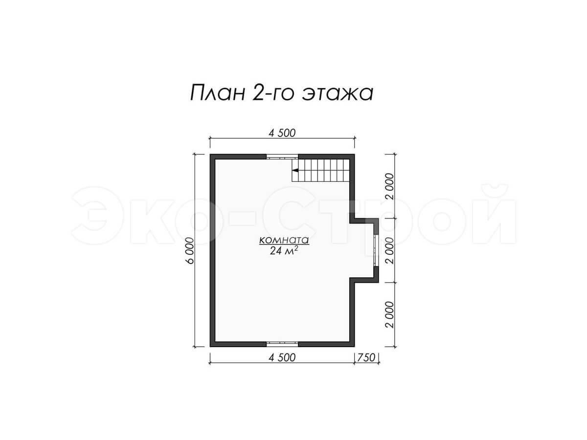 Дом из бруса ДУ 004 план 2 эт