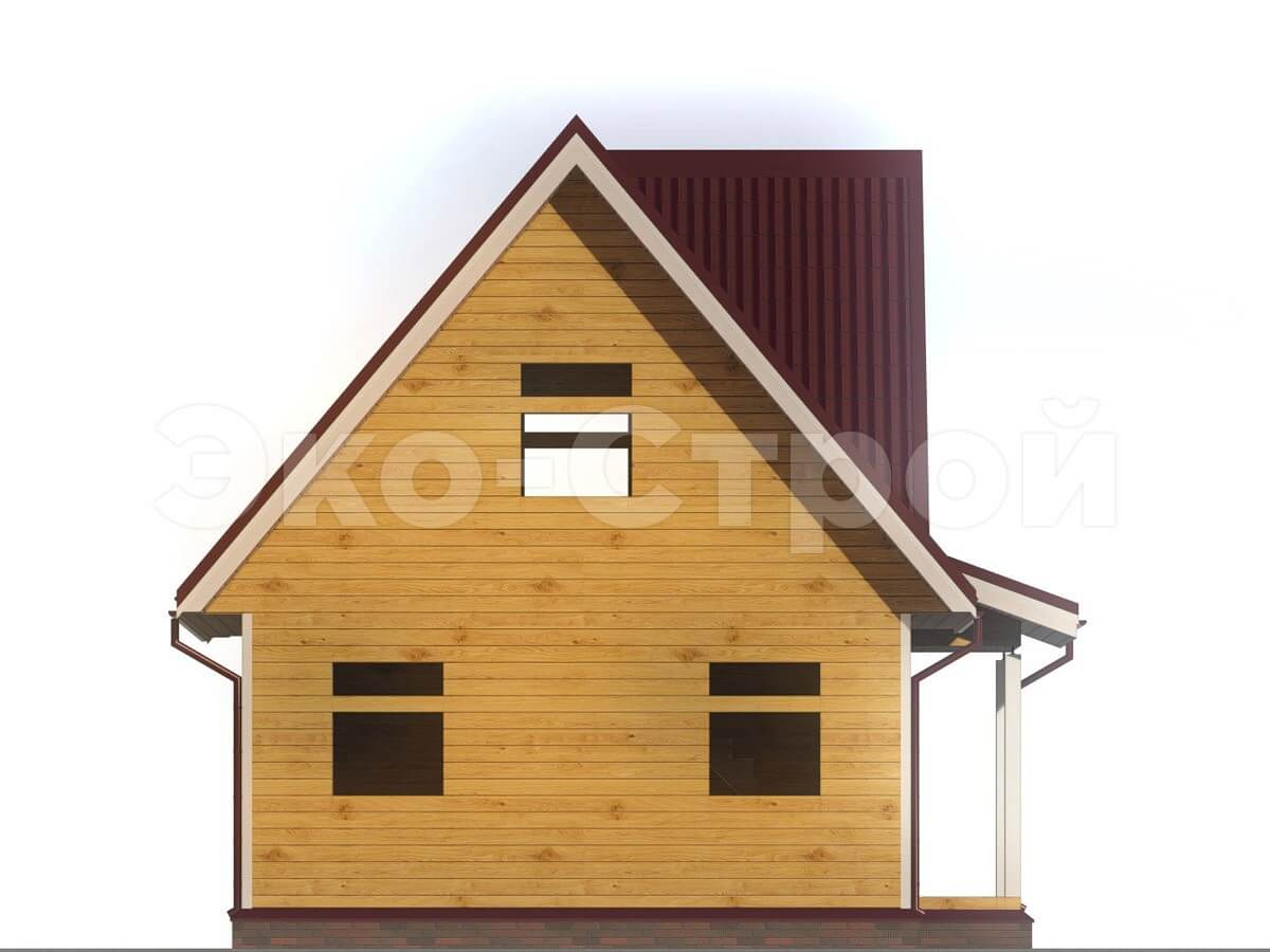 Дом из бруса ДУ 004 вид 4
