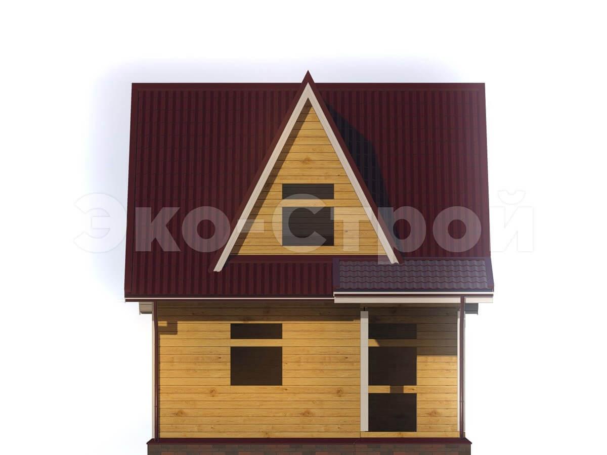 Дом из бруса ДУ 004 вид 3