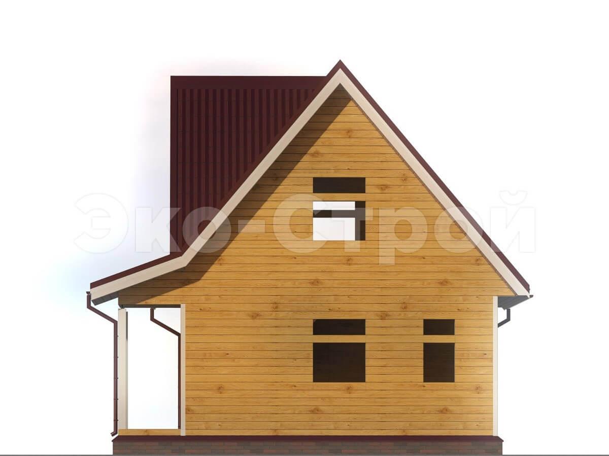 Дом из бруса ДУ 004 вид 2