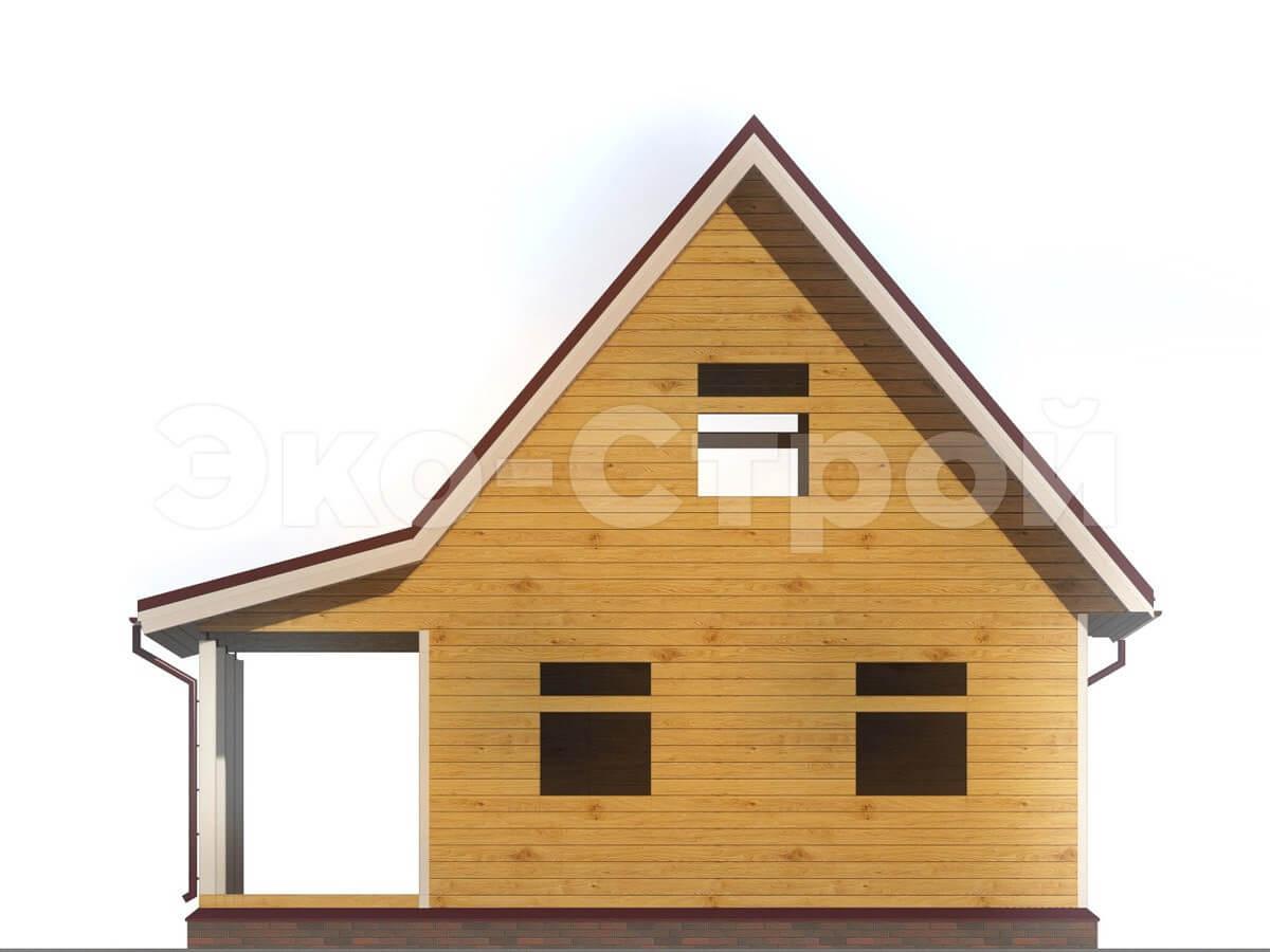 Дом из бруса ДУ 005 вид 1