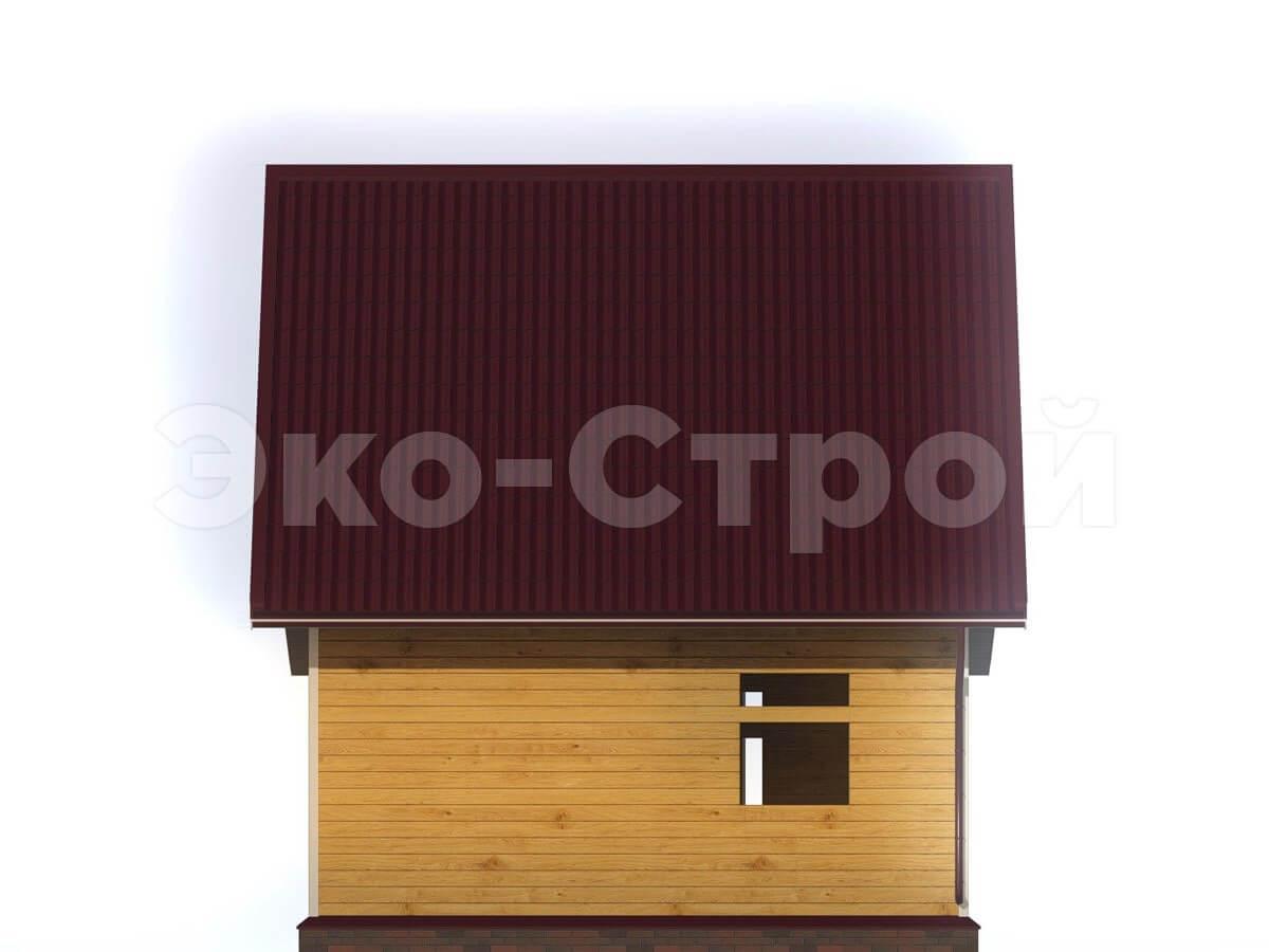 Дом из бруса ДУ 005 вид 2