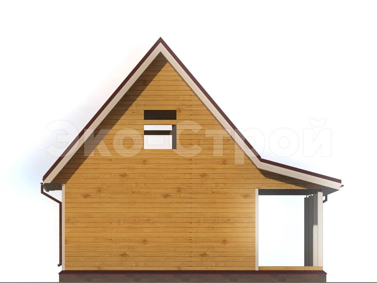 Дом из бруса ДУ 005 вид 3