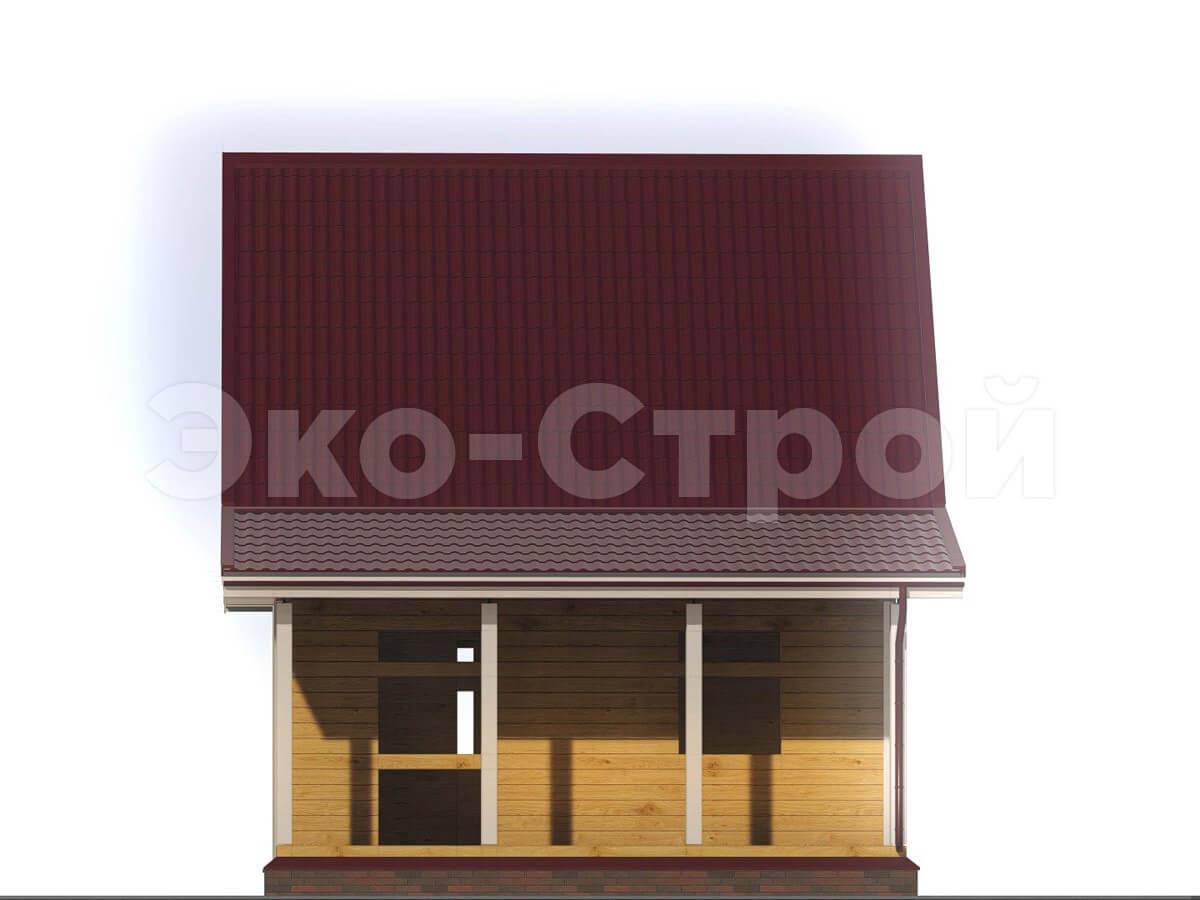Дом из бруса ДУ 005 вид 4