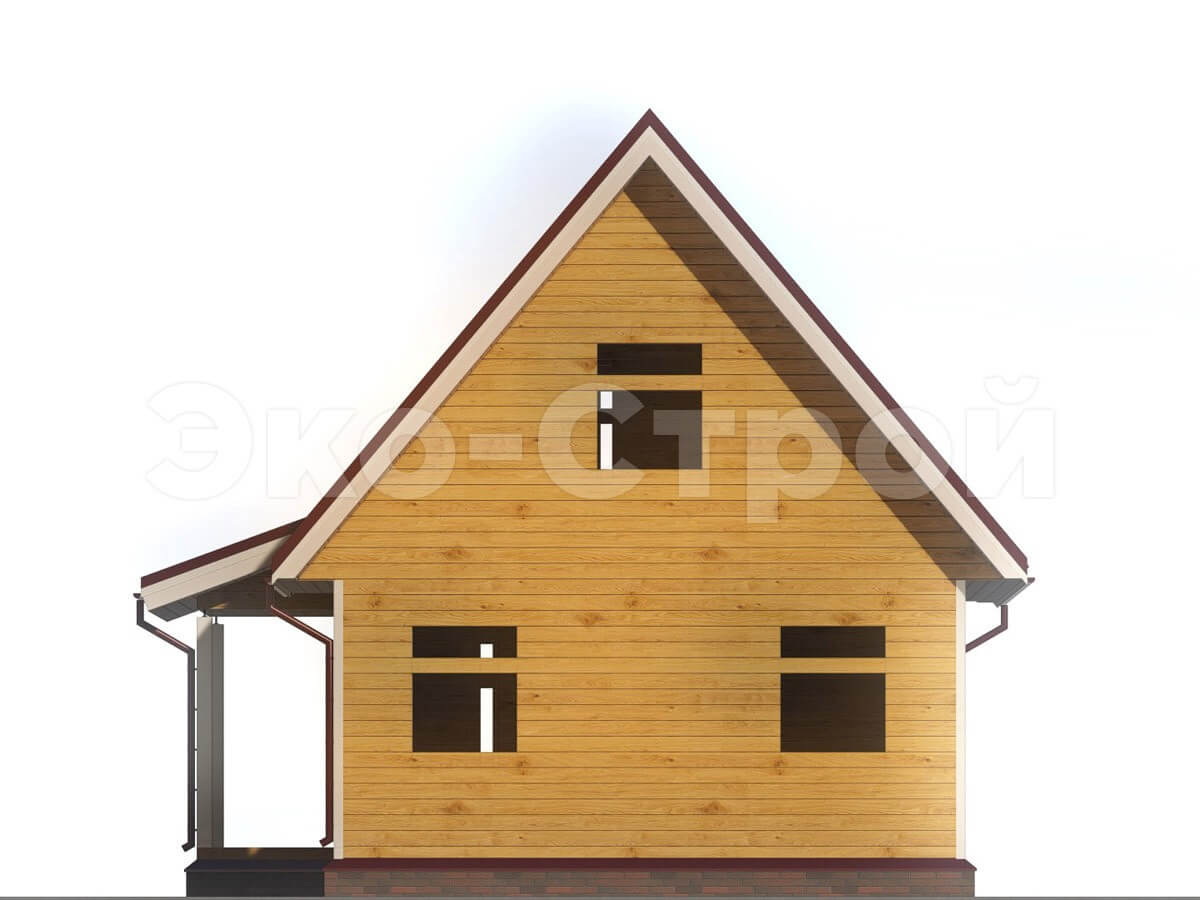 Дом из бруса ДУ 006 вид 3