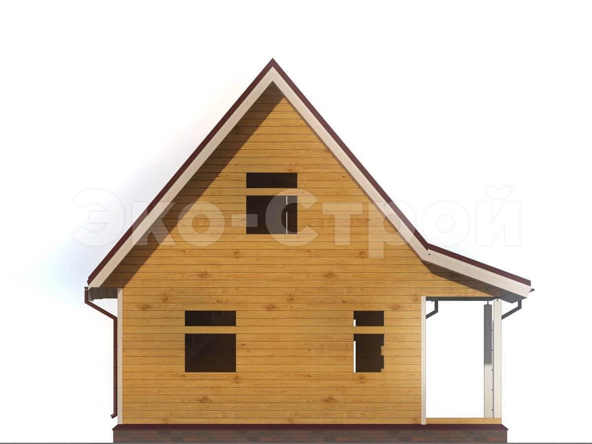 Дом из бруса ДУ 006 вид 2