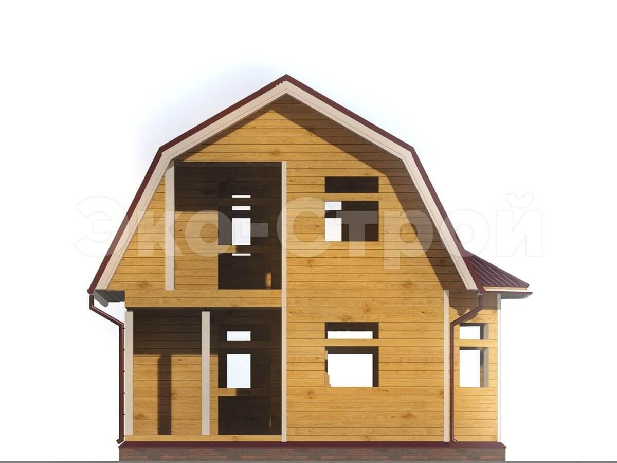 Дом из бруса ДУ 007 вид 4