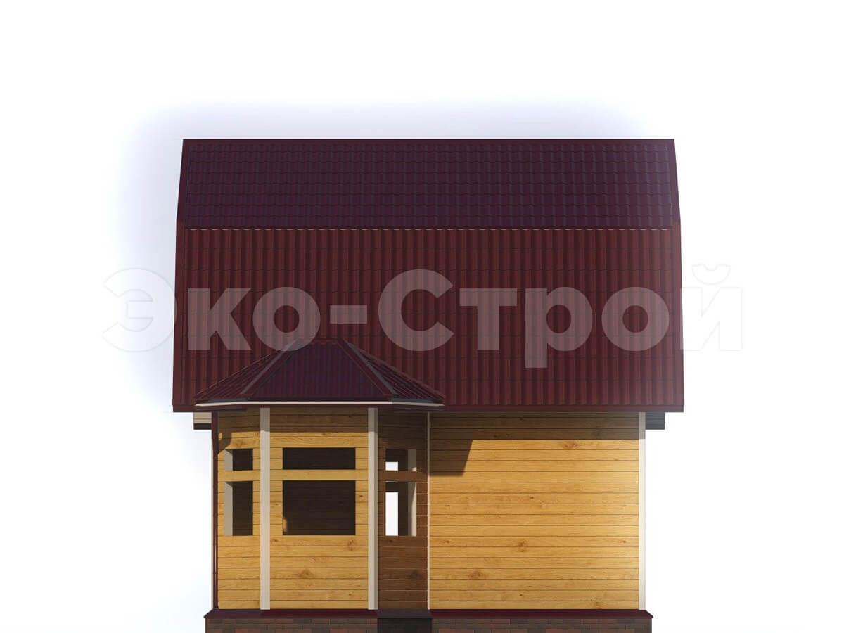 Дом из бруса ДУ 007 вид 3