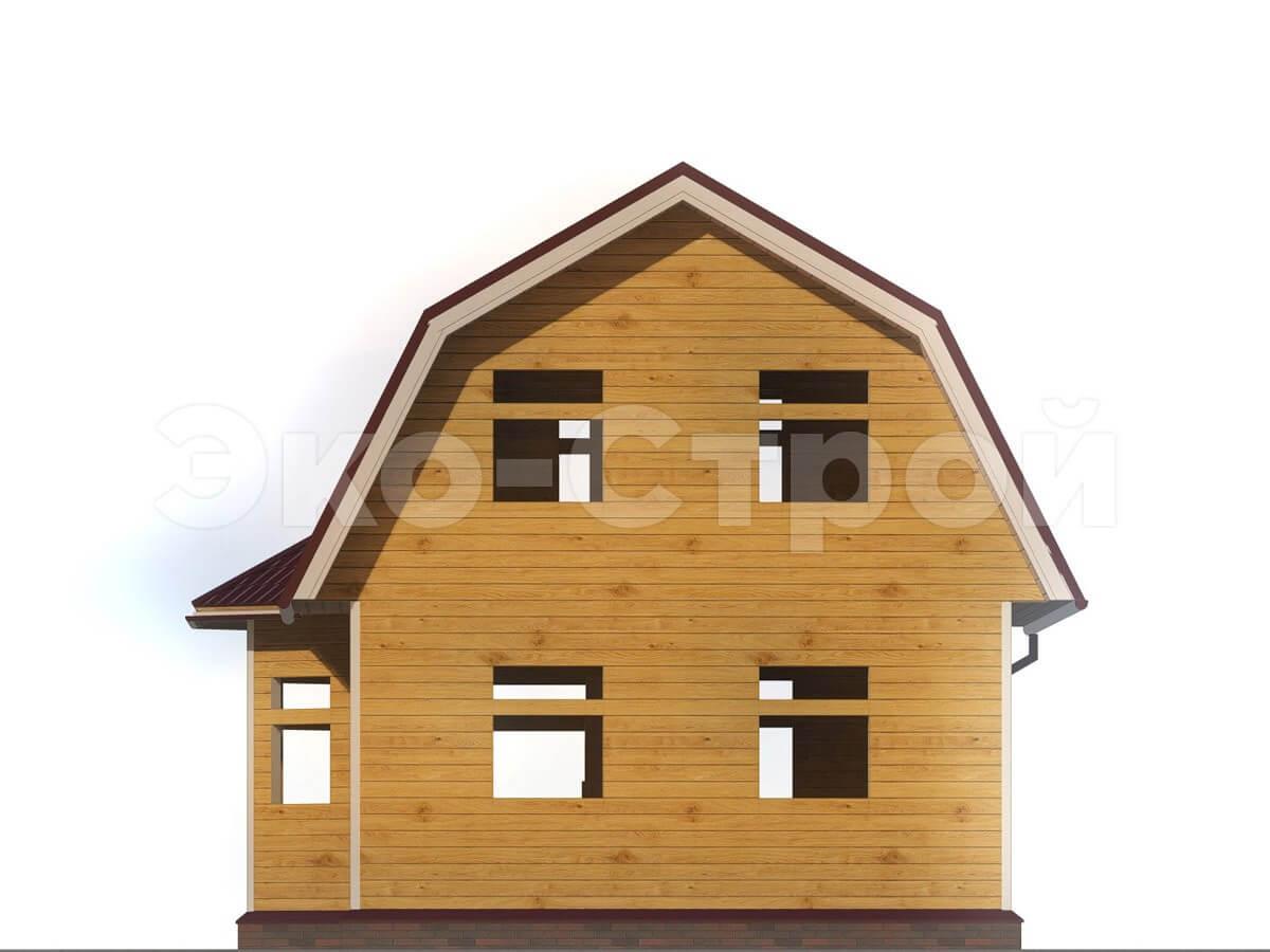 Дом из бруса ДУ 007 вид 2