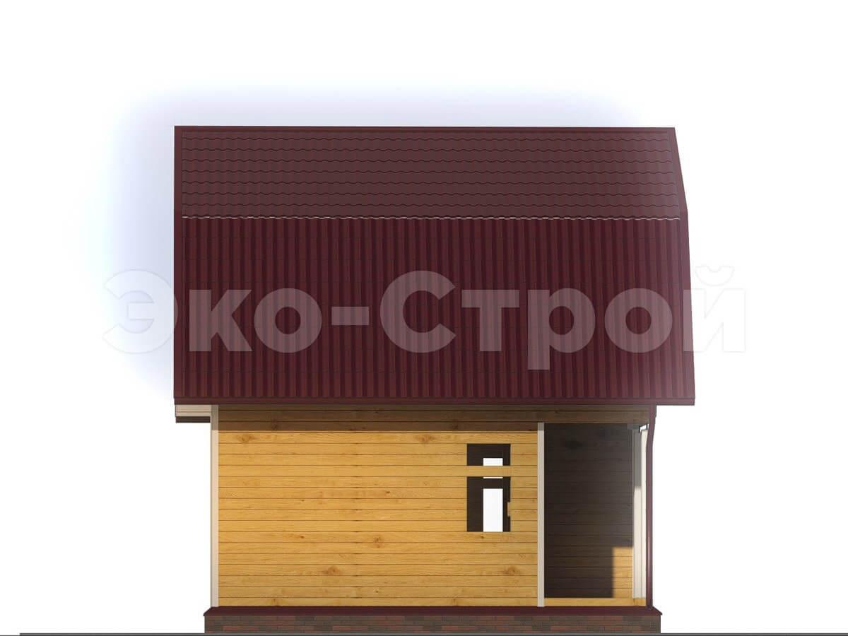Дом из бруса ДУ 007 вид 1