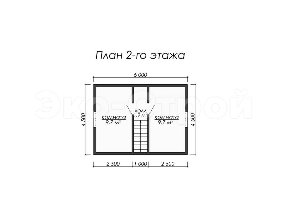 Дом из бруса ДУ 008 план 2 эт
