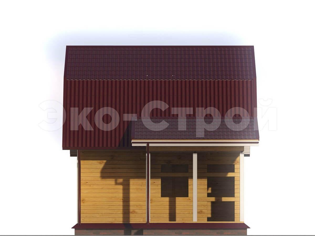 Дом из бруса ДУ 008 вид 1