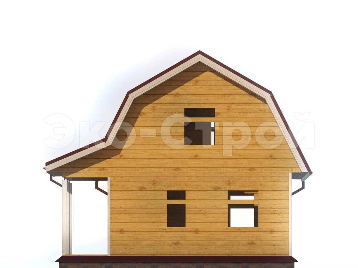 Дом из бруса ДУ 008 вид 2