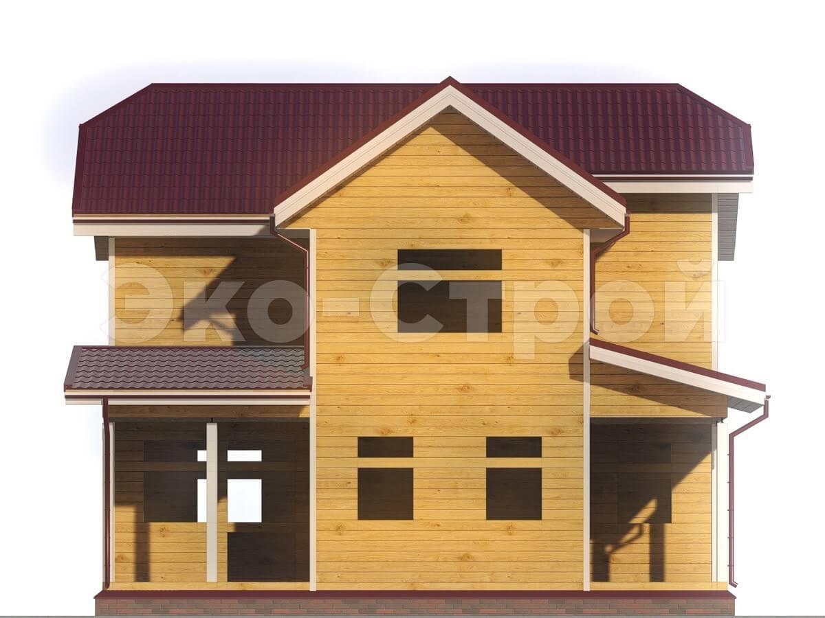 Дом из бруса ДУ 009 вид 4