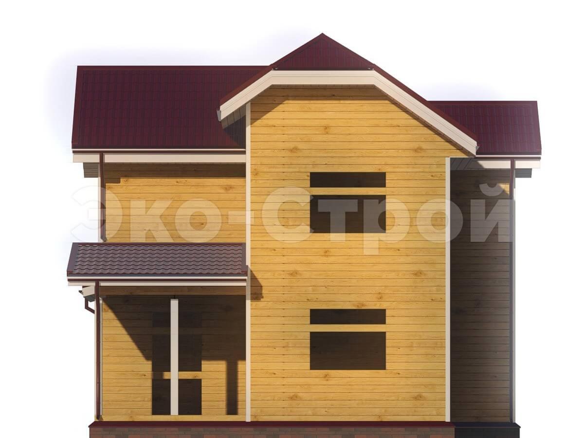 Дом из бруса ДУ 009 вид 3