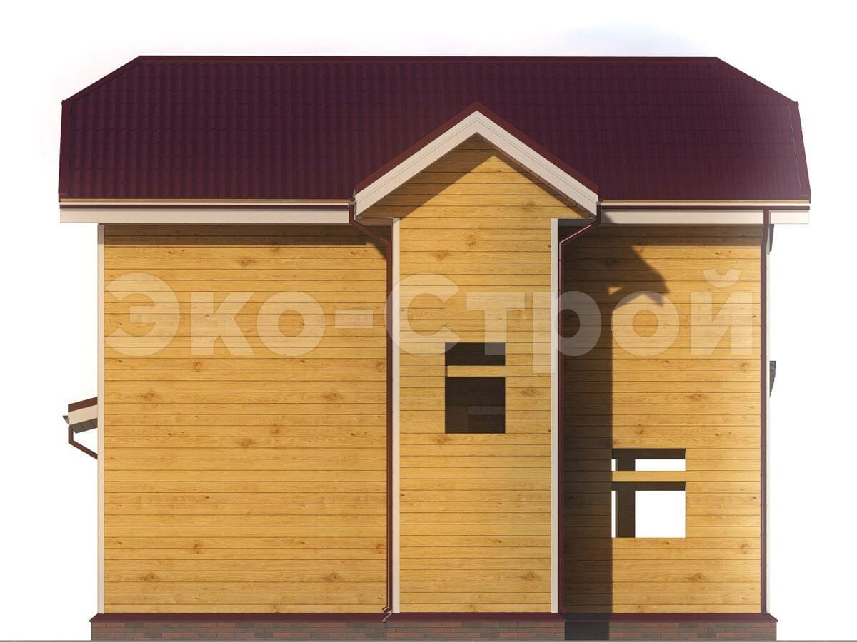 Дом из бруса ДУ 009 вид 2