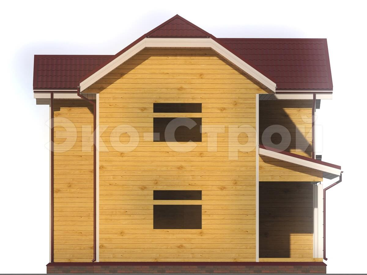Дом из бруса ДУ 009 вид 1