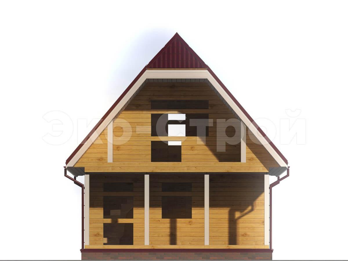 Дом из бруса ДУ 010 вид 1