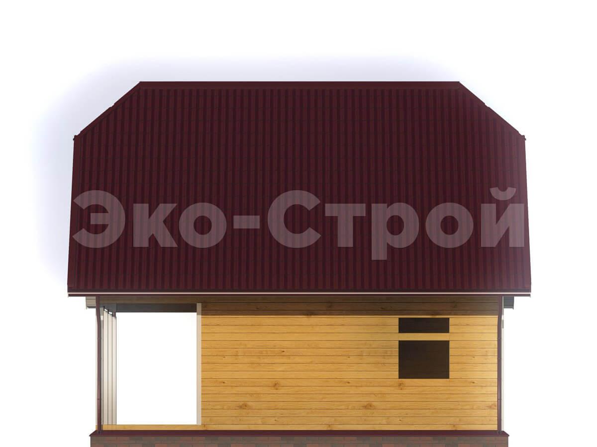 Дом из бруса ДУ 010 вид 2