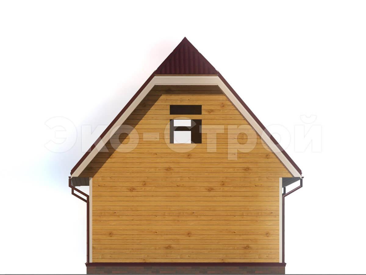 Дом из бруса ДУ 010 вид 3