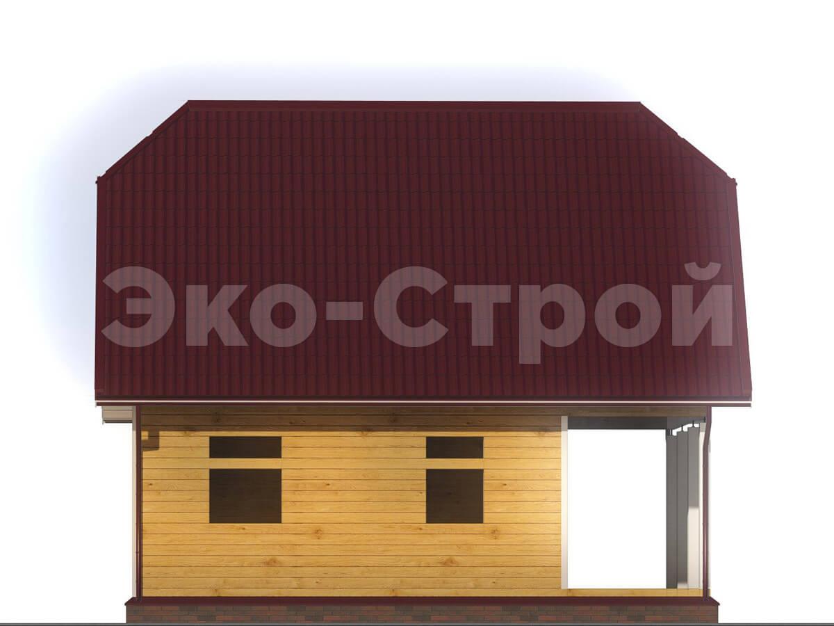 Дом из бруса ДУ 010 вид 4