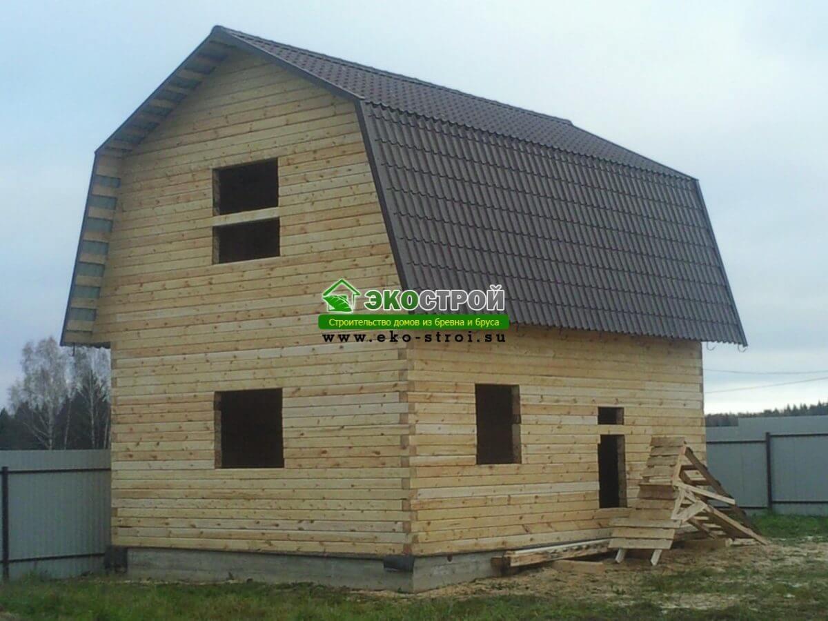 Фоторепортаж строительства дома из бруса 7х6