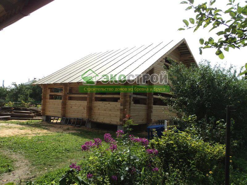 фото отчет строительства дома из бруса
