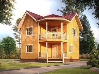Дом из бруса ДУ 011