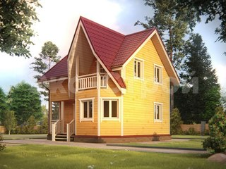 Дом из бруса ДУ 012