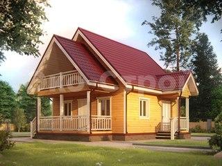Дом из бруса ДУ 014