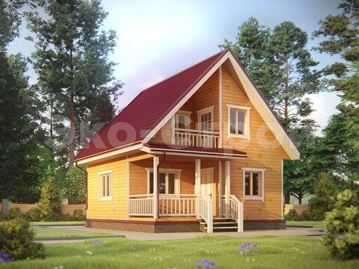 Дом из бруса ДУ 015
