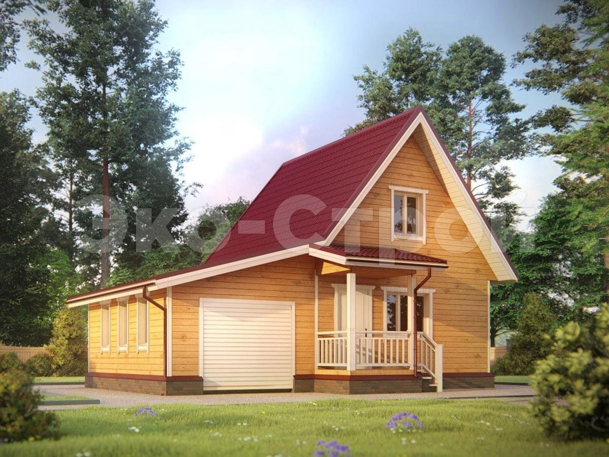 Дом из бруса ДУ 018 под усадку