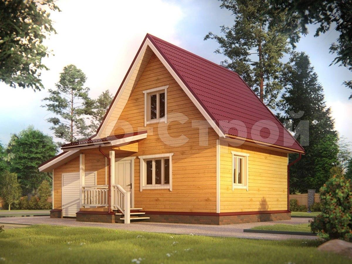 Дом из бруса ДУ 018