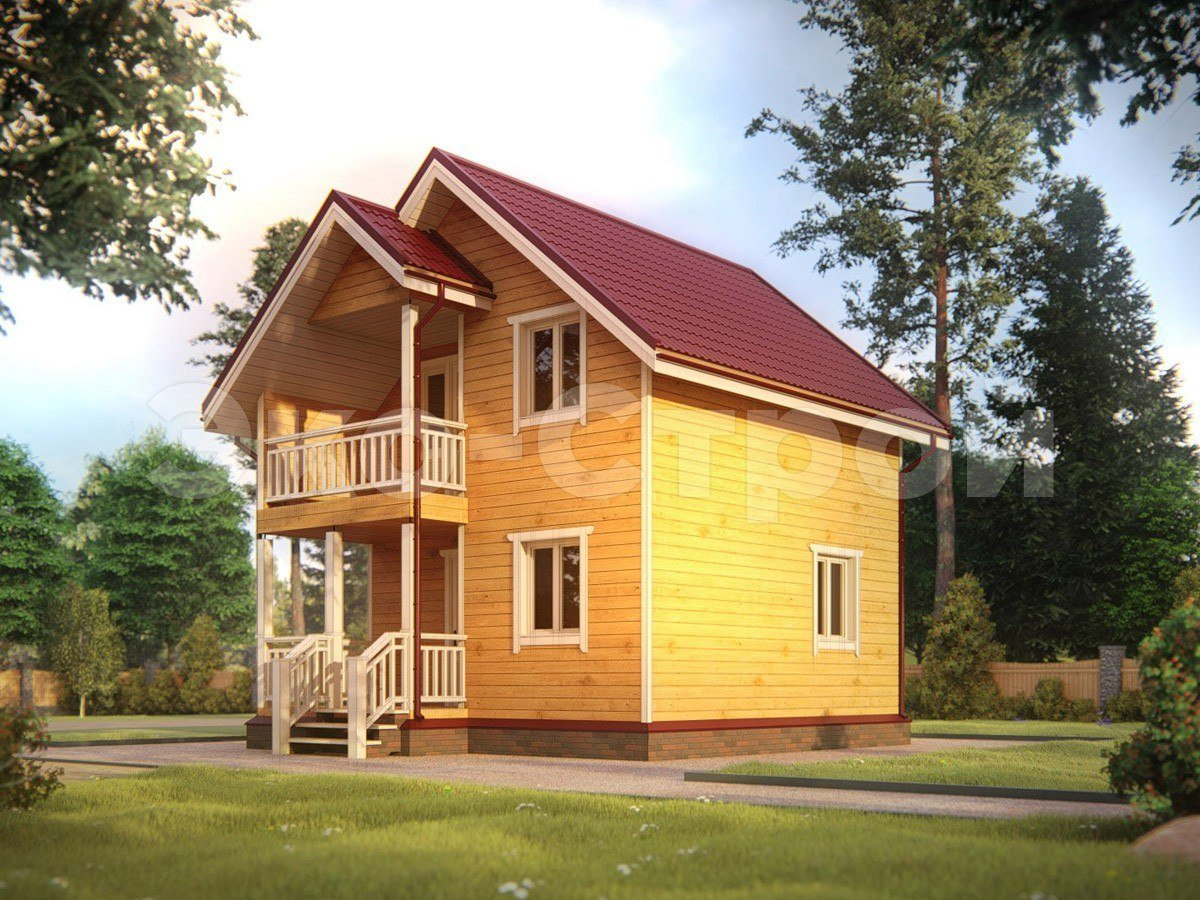 Дом из бруса ДУ 019