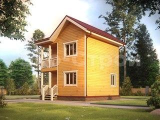 Дом из бруса ДУ 020