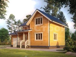 Дом из бруса ДУ 028